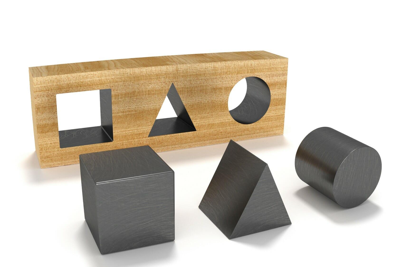 Viele Details des Einstellungstest Vorstellungsvermögen: Visuelles Denken stehen in engem Zusammenhang mit Mathematikaufgaben aus dem Bereich Geometrie.